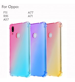 Oppo F1S R9S A57 A77 A71 Casing Case Cover Air Bag Anti Shock Housing Rainbow