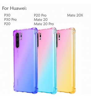 Huawei P30 Pro P20 Pro Mate 20 Pro Mate 20X Casing Case Cover Air Bag Rainbow