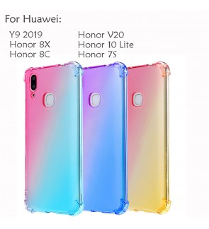 Huawei Y9 2019 Honor 8X 8C V20 Honor 10 Lite 7S View 20 Casing Case Cover Air Bag Rainbow