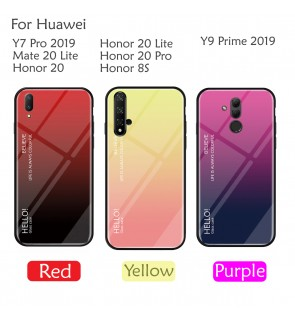 Huawei Y9 Prime 2019 Honor 20 Lite Honor 20 Pro Y7 Pro Mate 20 Lite Honor 8S Case Cover Casing Tempered Glass Aurora