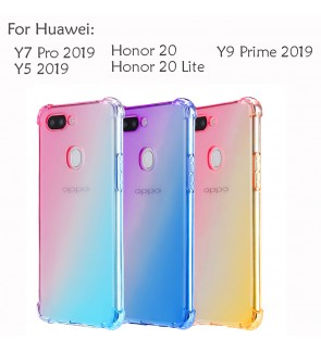 Huawei Y9 Prime Y7 Pro Y5 2019 Honor 20 Lite Casing Case Cover Air Bag Anti Shock Rainbow Soft Housing