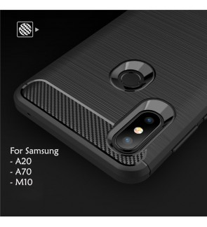 Samsung A20 A70 M10 TPU Silicone Soft Case Cover Casing Brushed