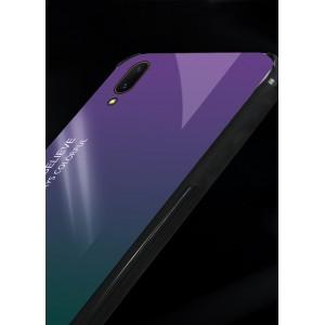 Samsung Galaxy A70  Galaxy M10 Case Cover Casing Tempered Glass Aurora