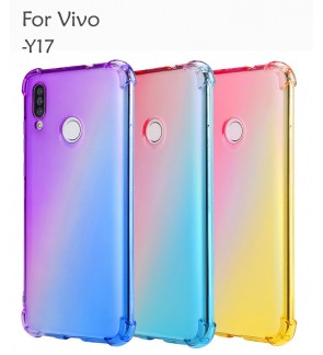 Vivo Y17 Casing Case Cover Air Bag Anti Shock Rainbow