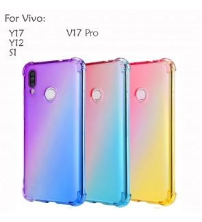 Vivo S1 Y12 Y17 V17 Pro Casing Case Cover Air Bag Anti Shock Rainbow Soft Housing