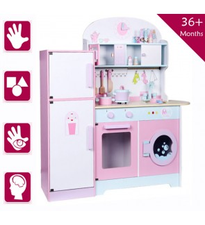 Wooden Toys Toy Kitchen Cooking Stove Refrigerator Fridge SetPerfect Birthday Gift – Refrigerator Kitchen