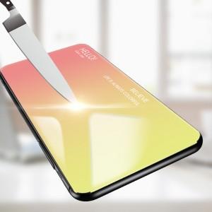 Realme 3 3 Pro C2 Case Cover Casing Tempered Glass Aurora