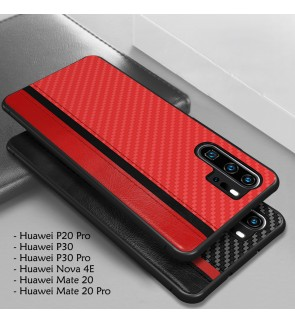 Huawei Mate 20 Pro P30 Pro P20 Pro Nova 4E Back Cover Casing Housing Mulsae Carbon Fiber