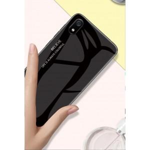 Xiaomi Redmi 7A Case Cover Casing Tempered Glass Aurora Back Housing