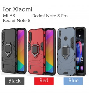 Xiaomi Mi A3 Redmi Note 8 Redmi Note 8 Pro Car Holder Back Case Cover Full Protection Stand Casing Housing