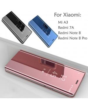 Xiaomi Redmi Note 8 Note 8 Pro Mi A3 Redmi 7A Mirror Flip Pouch Case Cover Casing Stand Housing