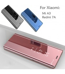 Xiaomi Mi A3 Redmi 7A Mirror Flip Pouch Case Cover Casing Housing