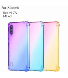 Xiaomi Redmi 7A Mi A3 Casing Case Cover Air Bag Rainbow Housing