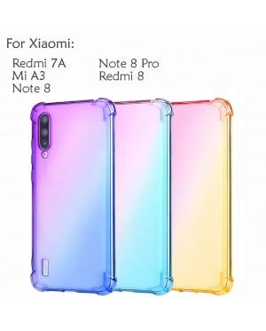 Xiaomi Redmi 8 Note 8 Note 8 Pro Redmi 7A Mi A3 Rainbow Antishock Casing Case Cover Air Bag Back Soft Housing