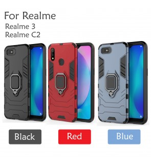 Realme 3 Realme C2 Car Holder Case Cover Casing Full Protection Housing
