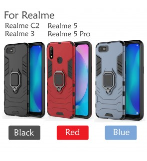 Realme 5 Realme 5 Pro Realme 3 Realme C2 Car Holder Case Cover Casing Full Protection Housing Stand Housing