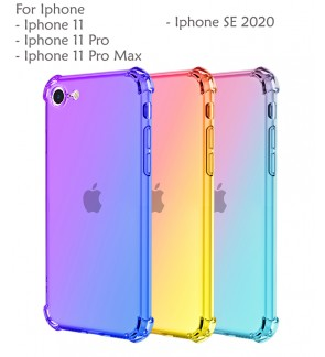 Iphone 11 Iphone 11 Pro Max Iphone SE 2020 Casing Case Cover Air Bag Anti Shock Rainbow Housing
