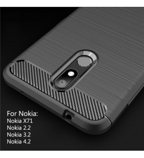 Nokia X71 Nokia 2.2 Nokia 3.2 Nokia 4.2 TPU Silicone Soft Case Cover Casing Brushed Housing