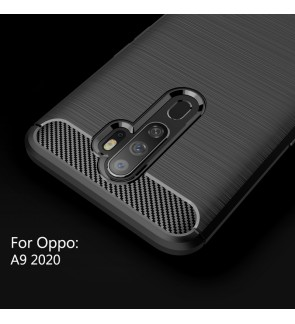 Oppo A9 2020 TPU Silicone Soft Case Cover Casing Brushed Housing