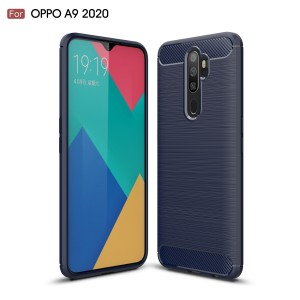 Oppo A9 2020 A5 2020 Reno 2F TPU Silicone Soft Case Cover Casing Brushed Housing