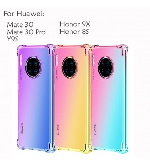 Huawei Mate 30 Pro Y9S Honor 9X Honor 8S Rainbow Antishock Soft Casing Case Cover Air Bag Housing
