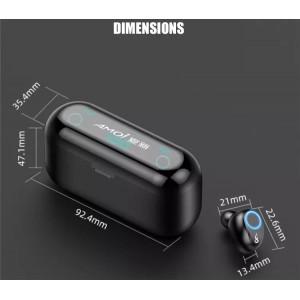 TWS Sport Waterproof New Ver F9 Wireless Bluetooth Earbuds Stereo Earphone Handfree HIFI Headphone Ear bud Headset Mic