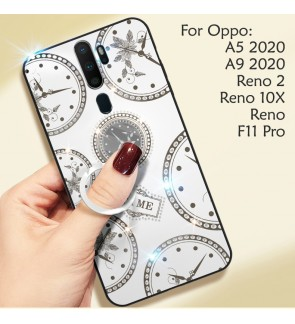 Oppo F11 Pro A5 2020 A9 2020 Reno 2 Reno 10X Zoom Shining Diamond Cover Hard Back Casing Case Housing With I-Ring