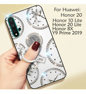 Huawei Honor 20 Lite Honor 8X Honor 10 Lite Y9 Prime 2019 Timer Cover Hard Back Casing Case Back Housing With I-ring