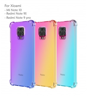 Xiaomi Mi Note 10 Redmi Note 9S Note 9 Pro Rainbow Anti Shock Soft Casing Case Cover Air Bag Housing