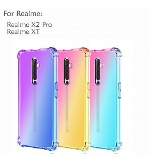 Realme X2 Pro Realme XT Rainbow Anti Shock Soft Casing Case Cover Air Bag Housing