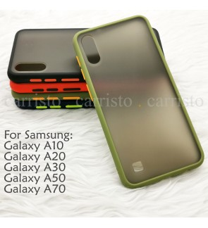 Samsung Galaxy A10 A20 A30 A50 A70 Phantom Series Back Casing Cover Case Colorful Housing