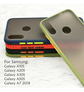 Samsung Galaxy A10S A20S A30S A50S A7 2018 Phantom Series Back Casing Cover Case Colorful Housing