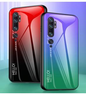 Xiaomi Mi Note 10 Pro Gradient Aurora Case Cover Casing Tempered Glass Housing