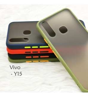 Vivo Y15 Phantom Series Back Casing Cover Case Colorful Silicone Soft Housing