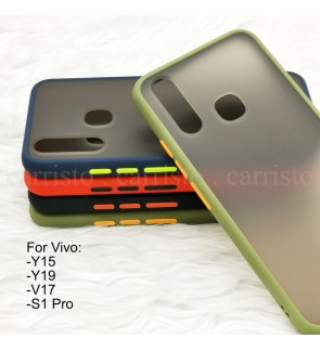 Vivo Y15 Y19 V17 S1 Pro Phantom Series Back Casing Cover Case Colorful Silicone Soft Housing