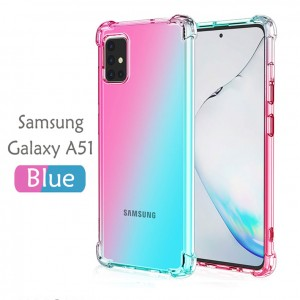 Samsung Galaxy S20 Ultra S20 Plus A51 A71 Note 10 Lite S10 Lite Rainbow Antishock Soft Casing Case Cover Air Bag Housing