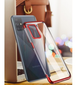 Samsung Galaxy A71 A51 Note 10 Lite S10 Lite Crystal Clear TPU Soft Case Cover Casing Back Housing Electroplate