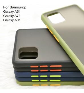 Samsung Galaxy A51 A71 A01 Phantom Series Back Casing Cover Case Colorful Housing