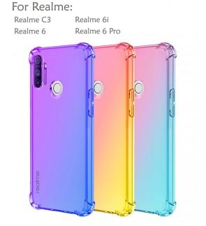 Realme 6i Realme 6 Pro Realme C3 Rainbow Antishock Soft Casing Case Cover Air Bag Back Housing