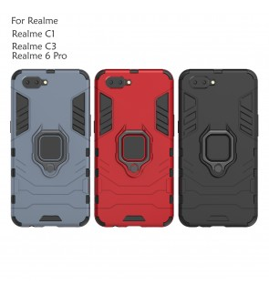Realme 6 Pro Realme C1 C3 Car Holder Case Cover Casing Full Protection Stand Back Housing