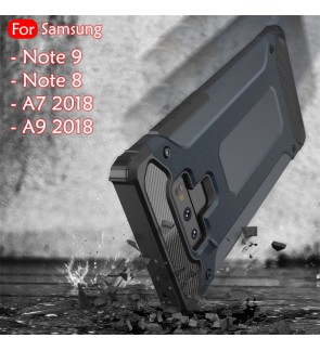 Samsung Galaxy A7 2018 A9 2018 Note 8 Note 9 Rugged Armor Protection Case Cover Hard Casing Shockproof Housing