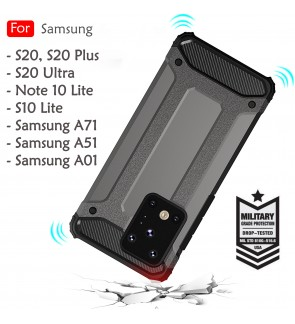 Samsung Galaxy S20 Plus S20 Ultra A51 A71 Note 10 Lite S10 Lite A01 Armor Case Cover Hard Casing Shockproof Housing
