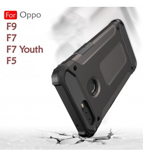 Oppo F5 F7 F9 F7 Youth Rugged Armor Protection Case Cover Hard Casing Shockproof Housing