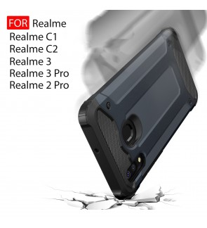 Realme 2 Pro Realme C1 C2 Realme 3 3 Pro Rugged Armor Protection Case Cover Hard Casing Shockproof Housing