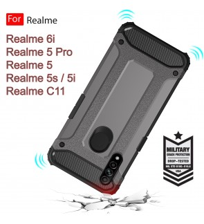 Realme 5 Pro Realme 5 5s 5i Realme 6i Realme C11 Rugged Armor Protection Case Cover Hard Casing Shockproof Housing