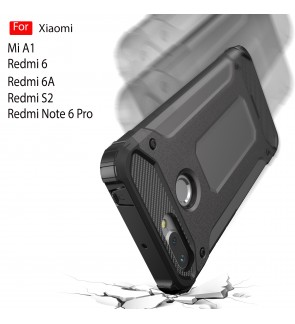 Xiaomi Mi A1 Redmi S2 Redmi 6 6A Redmi Note 6 Pro Rugged Armor Protection Case Cover Hard Casing Shockproof Housing