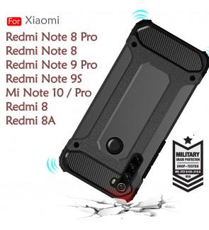 Xiaomi Redmi Note 8 Pro Redmi 8 8A Redmi Note 9S Note 9 Pro Mi Note 10 Pro Rugged Armor Case Cover Hard Casing Housing