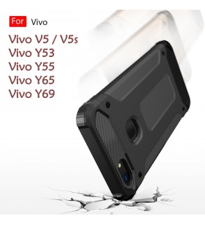 Vivo Y55 V5 V5s Y65 Y53 Y69 Rugged Armor Protection Case Cover Hard Casing Shockproof Housing