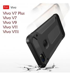 Vivo V7 V7 Plus V9 V11 V11i Rugged Armor Protection Case Cover Hard Casing Shockproof Housing