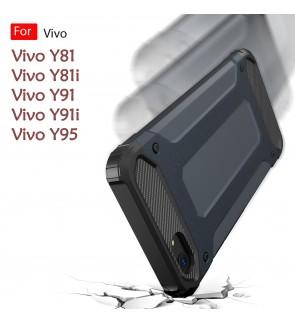 Vivo Y81 Y81i Y91 Y91i Y95 Rugged Armor Protection Case Cover Hard Casing Shockproof Housing